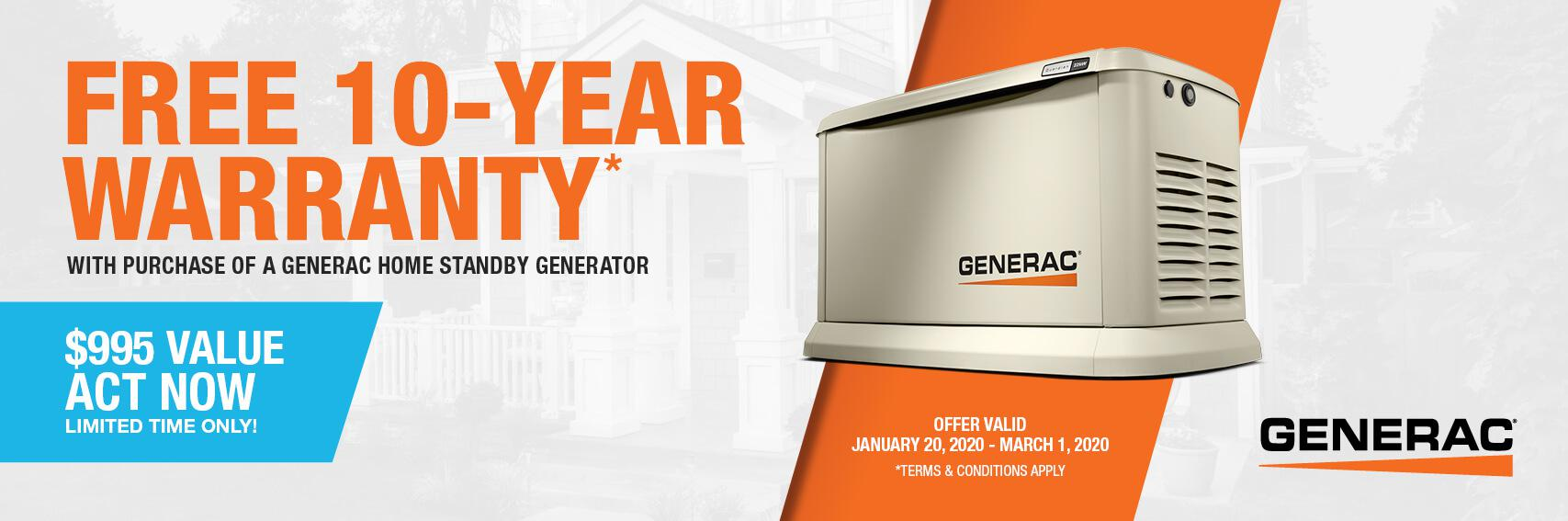 Homestandby Generator Deal | Warranty Offer | Generac Dealer | Jackson, CA